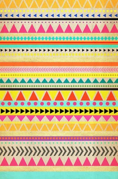 simbolos prehispanicos Triángulos y círculos de colores