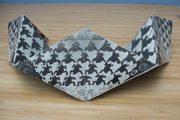 Escher figuras geometricas de papel para armar
