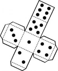 figura geometrica recortable dado