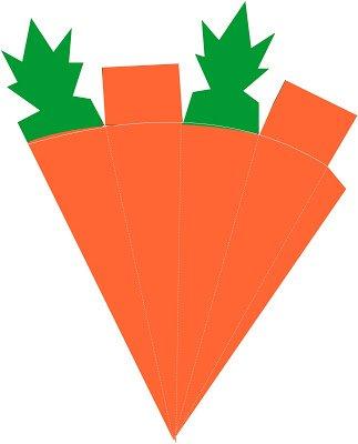 figura para armar piramide zanahoria hortaliza