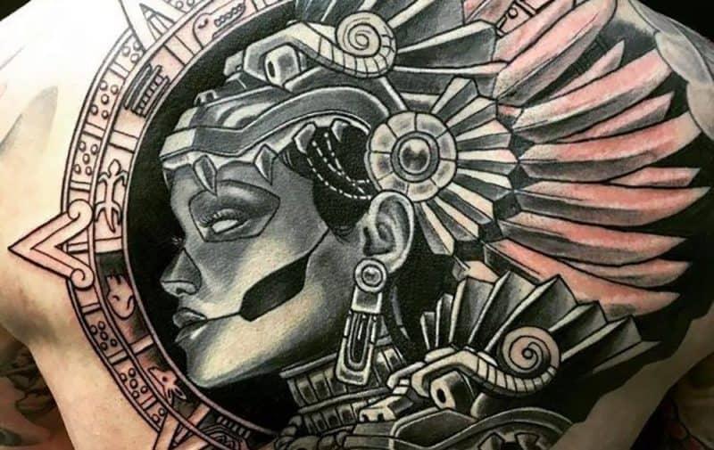 tatuajes aztecas y grecas rojas png