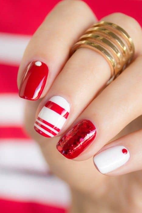 Color rojo con líneas, puntos y sólido