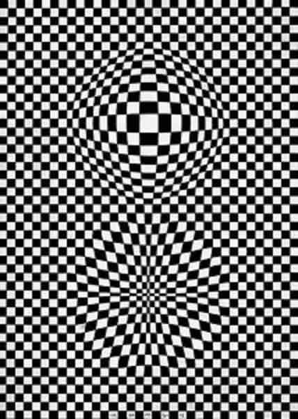 Vasarely Vega blanco y negro